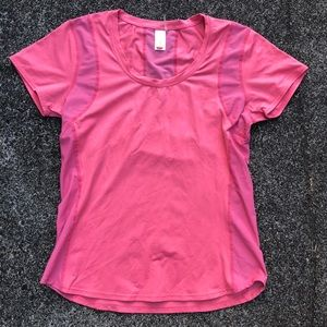 Lucy Athletic Wear T Shirt with Mesh Detail
